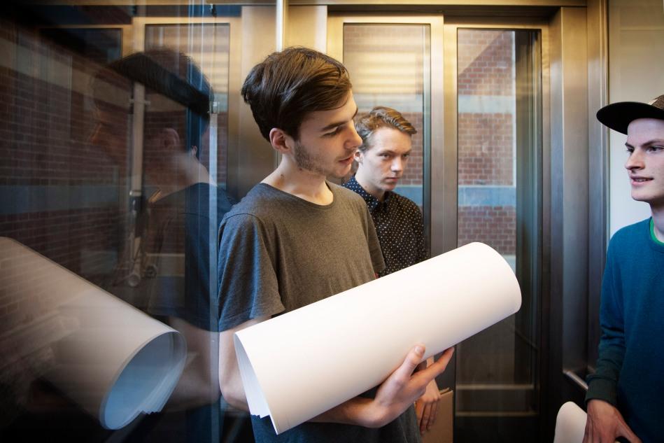 Tristan, 18 jaar, Stedelijk Museum Amsterdam.