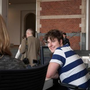 Jelle, 19 jaar, Stedelijk Museum Amsterdam.